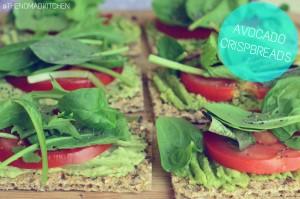 Avocado crispbreads