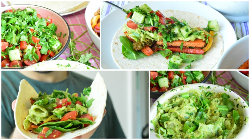 fajitas collage